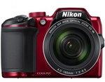 Aparat kompaktowy do 1000 zł Nikon Coolpix B500 czerwony (VNA953E1)