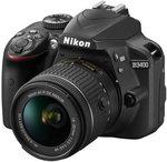 Aparat cyfrowy do 1500 zł Nikon D3400 + AF-P 18-55 VR czarny